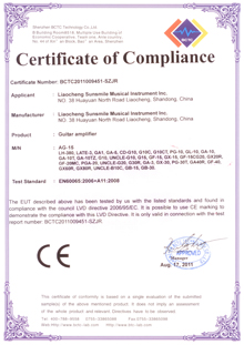 Amplifier Certificates CE